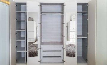 white mirror wardrobes