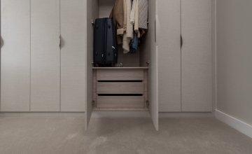 White wooden wardrobes