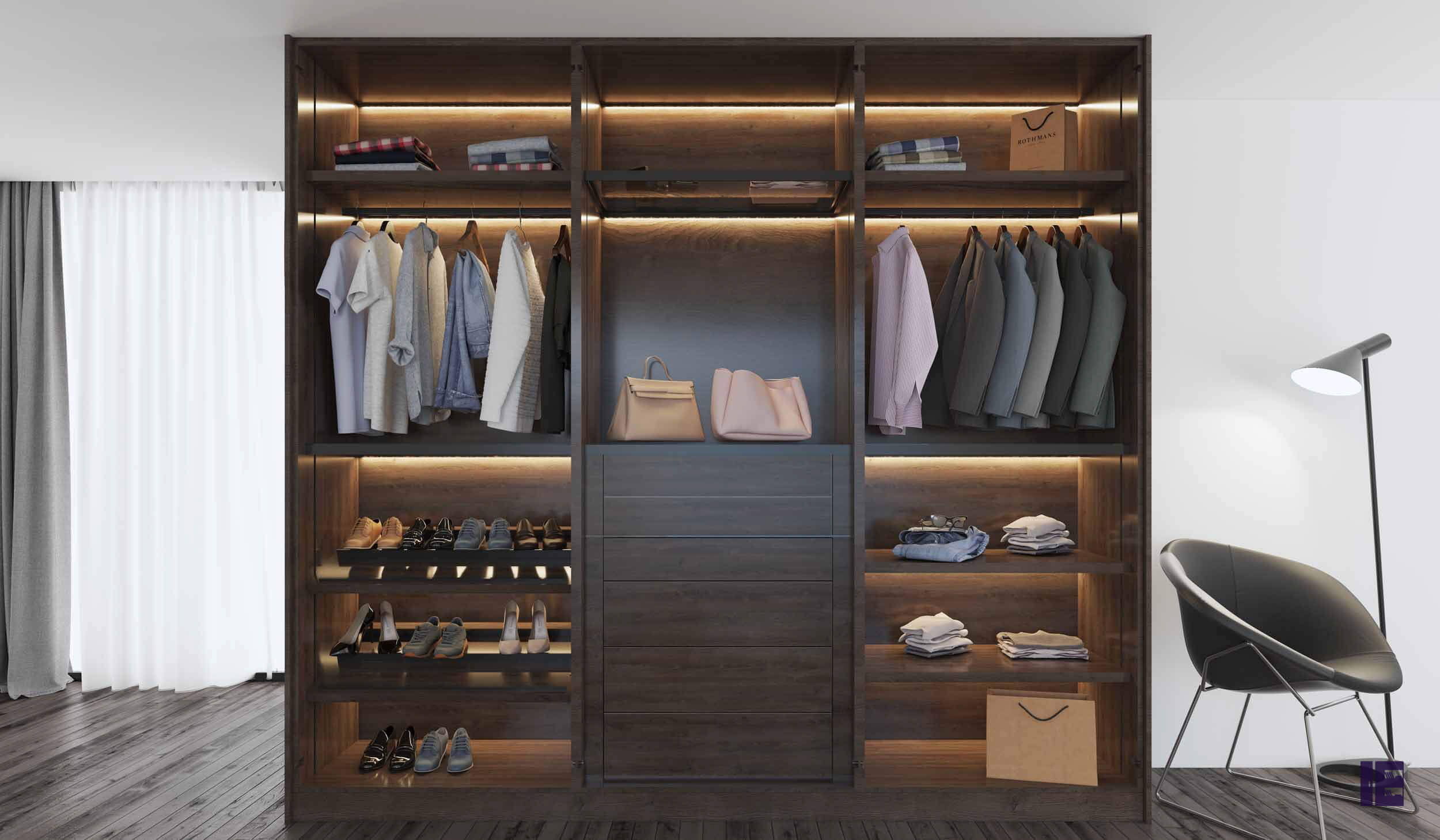 FITTED WALK IN WARDROBES