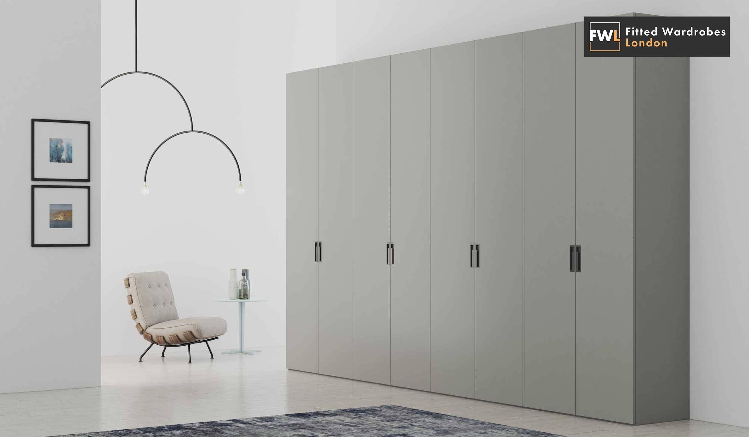 Hinged wardrobes grey