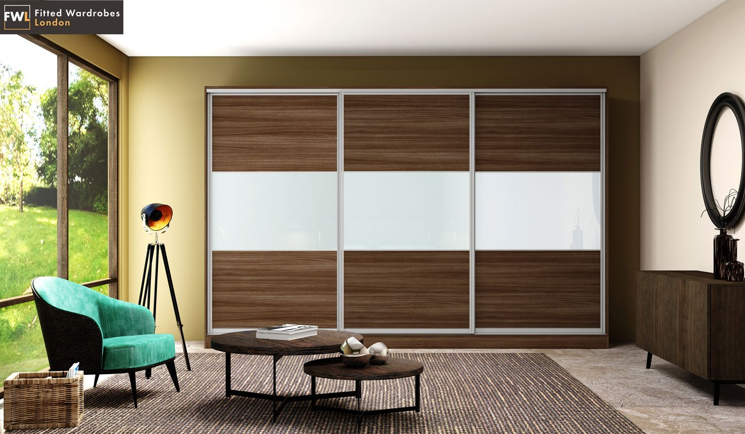 sliding wardrobes with mirror